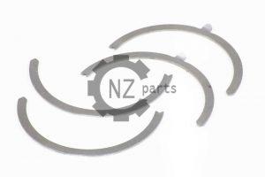 Вкладыши упорные (полукольцо коленвала 4 шт) двигателя Weichai WD615, WD10 (81500010125, 41100005562